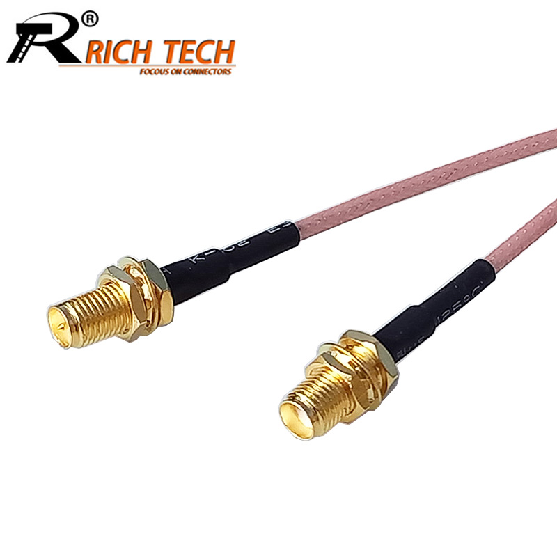 100PCS BNC female to SMA male with Cable RG316 15CM