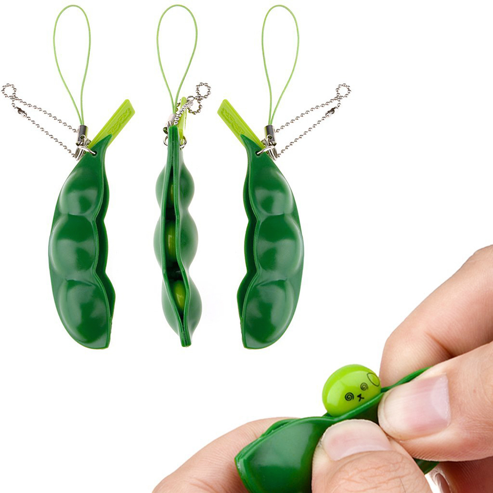 Magic Extrusion Squishy Toy Antistress Balls With Phone Key Chain Decompress Beans Squeeze Toys Office Anti-stress Novelty Relax