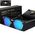 2017 New Men Retro Rivet Polarized Sunglasses Classic Brand Designer HD circular polarized  sunglasses for women Unisex UV400