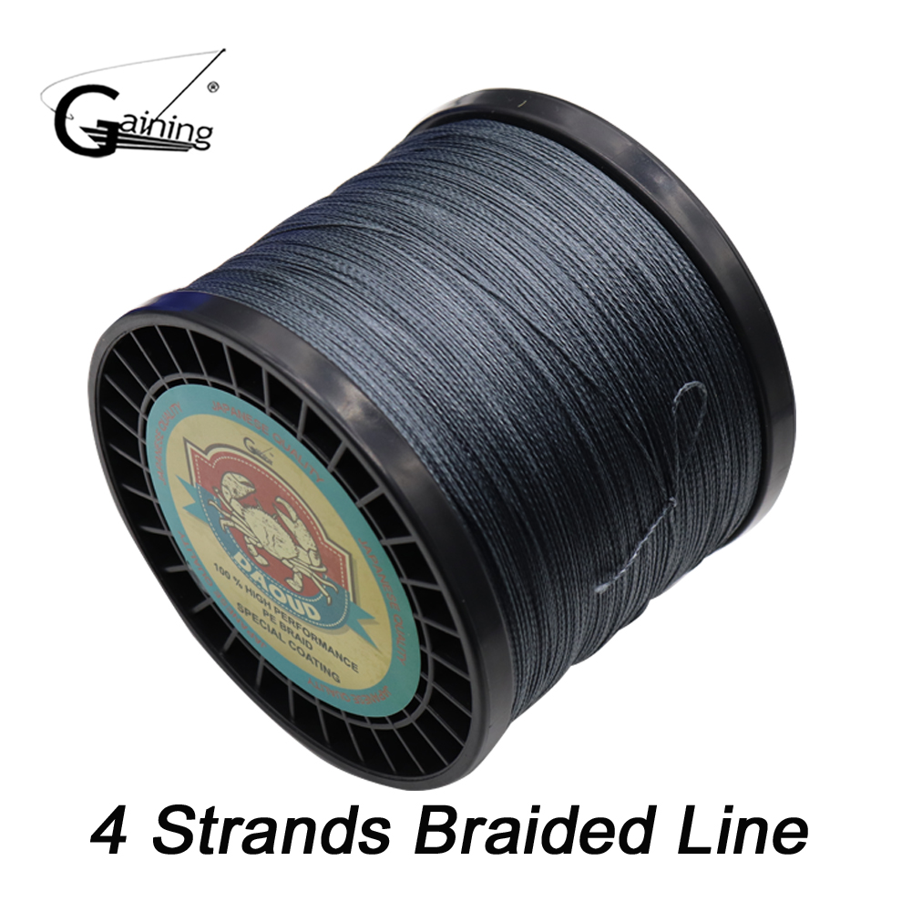 Gaining Fishing Line 4 Strands PE Braided Fishing Line 1000M Multifilament Lines for Carp Fishing Saltwater Freshwater