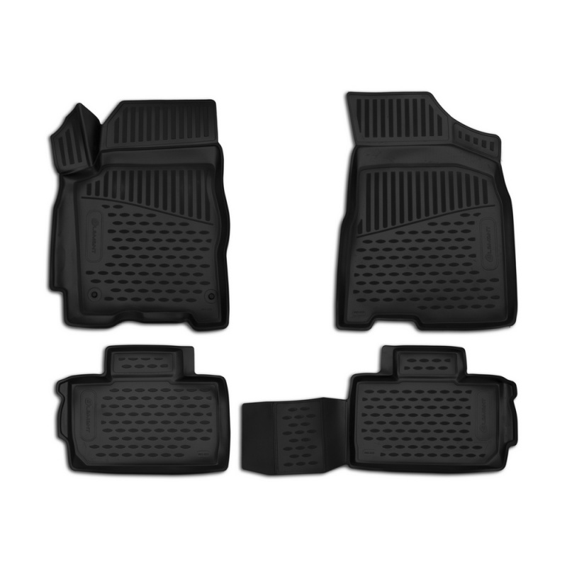 Mats in the salon For LADA Priora 2007-2009, 4 PCs (polyurethane) mats in the salon for cadillac cts 06 2007 4wd 4 pcs polyurethane