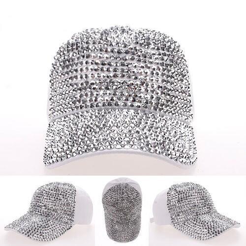 Prix pour Hip Hop Strass Forage perles Pleine combles jean casquette de baseball de voyage pare-soleil dames femmes chapeau snapback casquette à visière