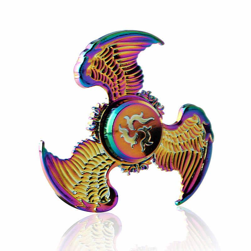 Три Крылатый Летающий орел красочный Спиннер EDC ручной Спиннер аутизм ADHD Дети Рождественские подарки металлический палец игрушки Спиннеры