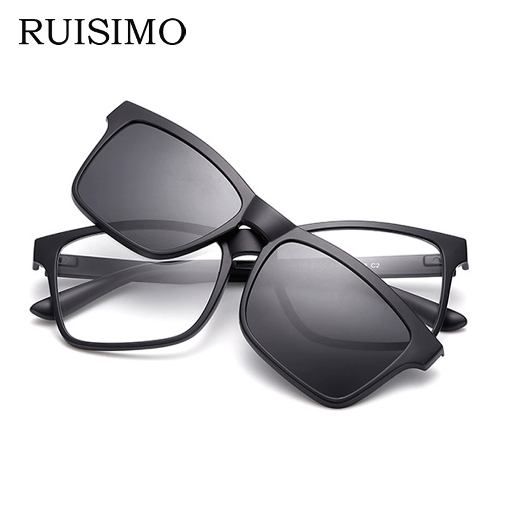 RUISIMO Men Eyeglasses Fashion Myopia Optical Computer Glasses Frame Brand Design Plain Eye Glasses Retro De Grau Femininos