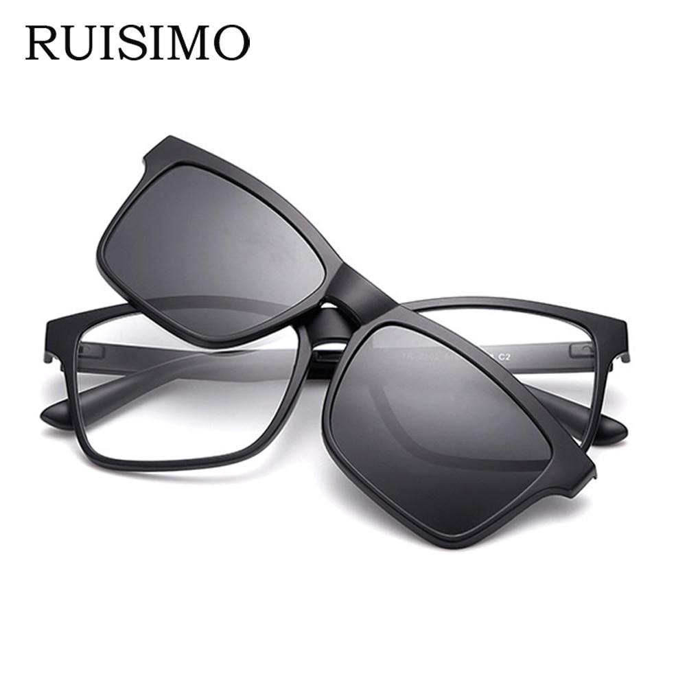 RUISIMO Men Eyeglasses Fashion Myopia Optical Computer Glasses Frame Brand Design Plain Eye Glasses Retro De Grau Femininos