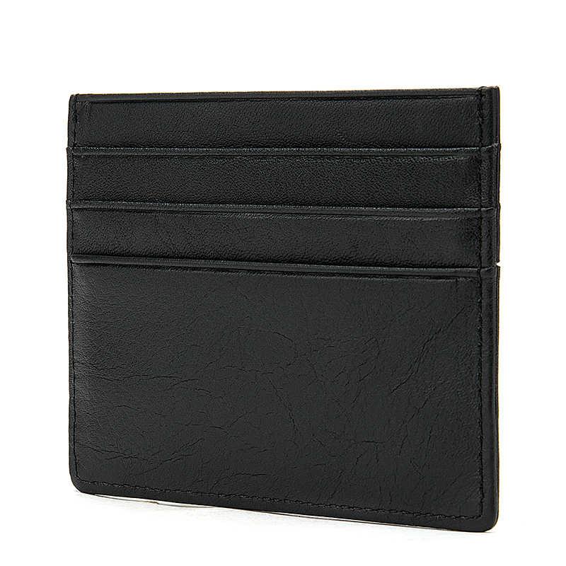 WESTAL porte-carte de crédit pour hommes en cuir véritable pour hommes sac à main mince poche de pièce de monnaie portefeuille court simple sac d'argent sacs minces 113