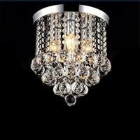 Modern Fashion Popular K9 Crystal Led E14 Ceiling Light For Aisle Entrance Living Room Bedroom Dia