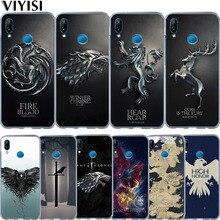 Game Thrones Daenerys Dragon Jon Snow Phone Case Coque For Huawei Nova 3i 2 Plus Y5 2018 Y6 II Pro Y7 P Smart P8 P9 Lite Etui