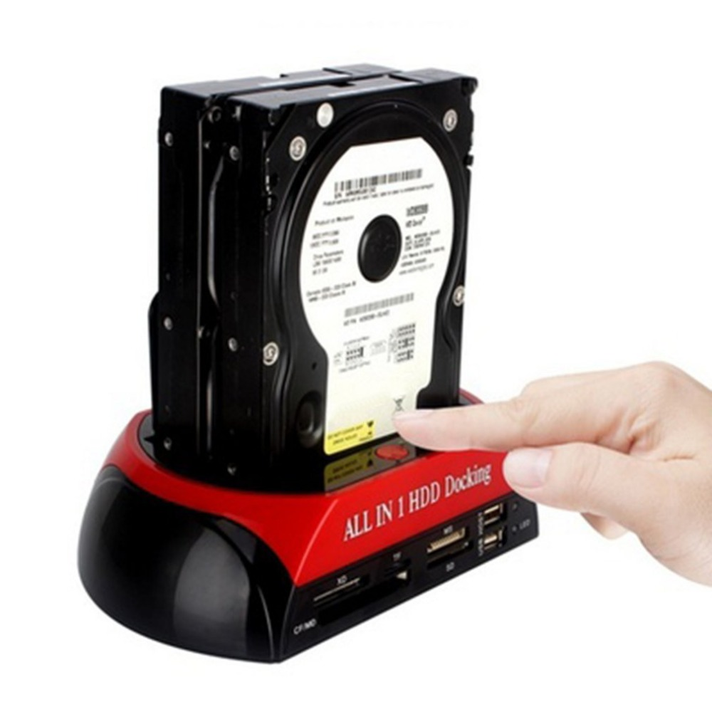 "Alle In 1 Hdd Docking 2,5 ""/3,5"" Usb 2.0 Kartenleser Ide Sata Dock Station High Speed Transfer One-touch Backup Otb Funktion"