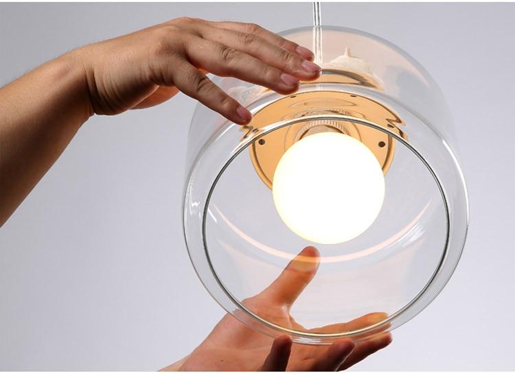 LuKLoy Resin Bird Pendant Lamp Light Nordic Glass Lights Lighting for Loft Kitchen Dining Room Ceiling Bedroom Decoration (14)