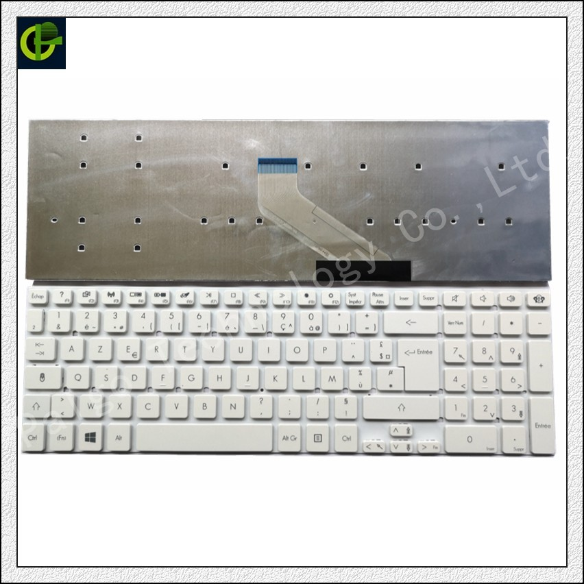 French Azerty Keyboard for packard Bell V121702GK1 FR PK130HJ1C14 MP 10K36F0 6982 PK130HQ1B14 white FR|Replacement Keyboards| |  - title=