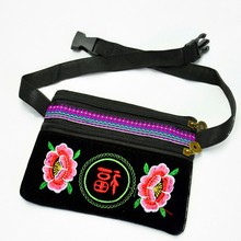 2018 Hmong National Embroidery Bag Floral Minority Style Ethnic Shoulder Messenger Small Phone Wallet Coin