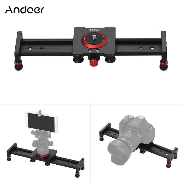 30cm 40cm 50cm Camera Track Slider Aluminum Alloy Damping Slider Track Video Stabilizer Rail Track Slider for DSLR Camcorder