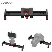 Deslizador de pista de cámara de 30cm, 40cm, 50cm, deslizante de amortiguación de aleación de aluminio, pista estabilizadora de vídeo, riel deslizante para videocámara DSLR