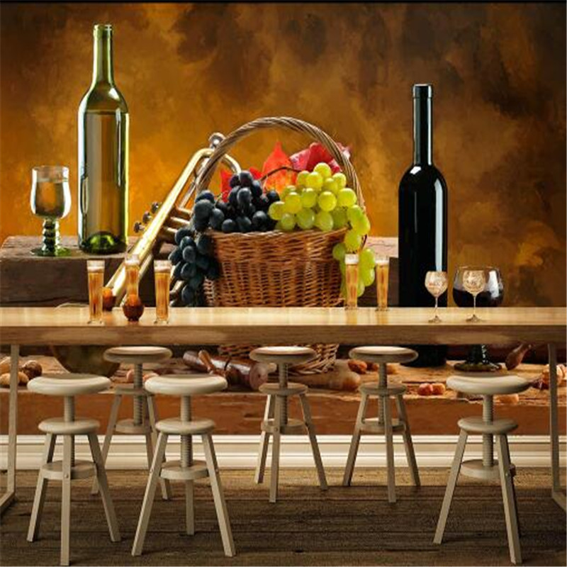Custom 3D Photo Wallpapers Bar Murals Wall Paper Fruit Wallpaper for KTV Theme Restaurant Wall Covering Living Room Home Decor