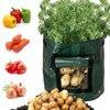 Растительный мешок для растений, плантатор для выращивания картофеля «сделай сам» из полиэтиленовой ткани, томатный мешок контейнер для посадки растений, утолщенный садовый горшок, Садовые принадлежности