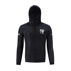 YuWaiJiaRen для мужчин с капюшоном куртки пальто письмо печати ветровка куртка демисезонный Мода китайский стиль спортивная