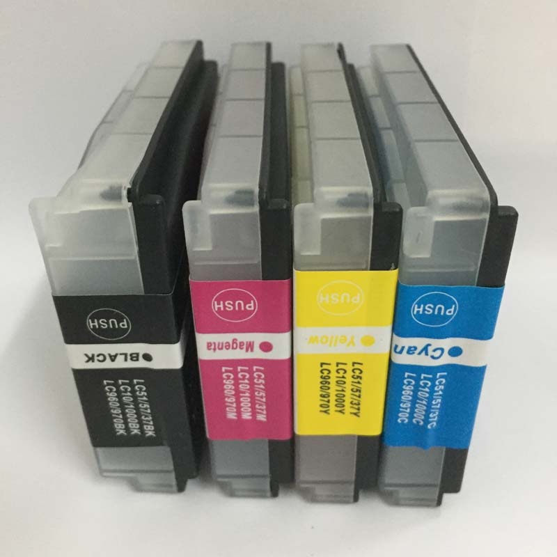 Vilaxh For Brother LC37 LC51 LC57 LC960 LC970 LC1000 ink cartridge compatible for DCP-135C MFC-235C MFC-240C FAX-1355