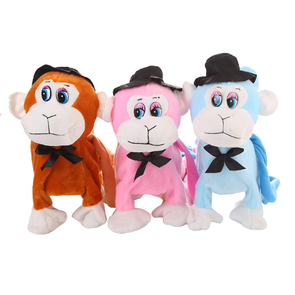 Electric Walking Dancing Plush Monkey with Leash Toddler Stuffed Animal Doll Toy