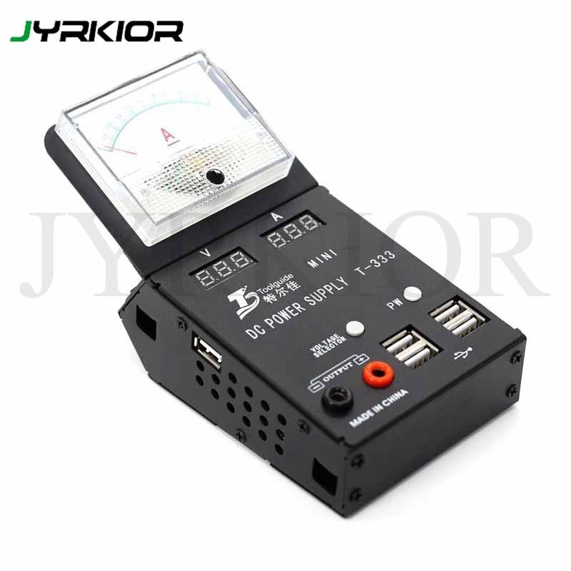 Jyrkior T 333 110V 220V Mini Multimeter Smart DC Power Supply Phone Repair Tool For iPhone