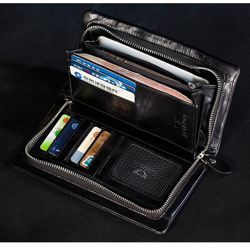 nova cera de petróleo couro Tipos : Men Wallet