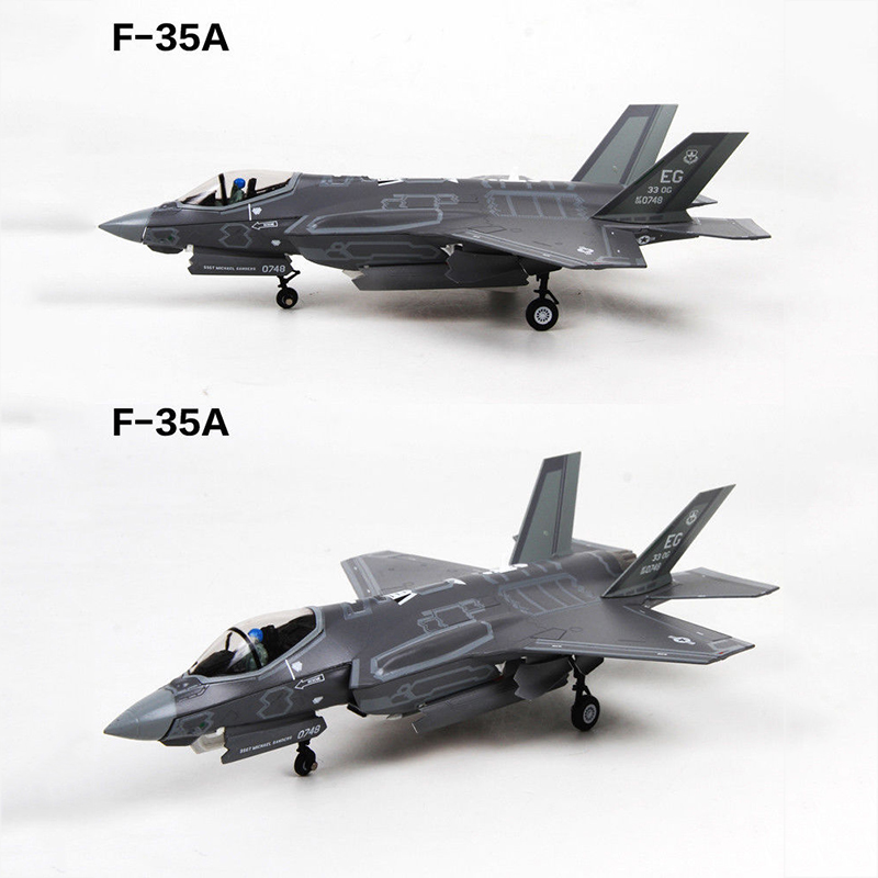 1/72 Scale F-35A Model Lightning II Joint Strike Fighter Navy Carrier-based Aircraft F35 Toys for Collections brand new 1 72 scale fighter model toys usa f a 18f super hornet fighter diecast metal plane model toy for gift collection