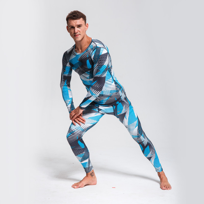 Security & Protection Camouflage Cycling Tracksuit Set Cycling Base Layer Men Sport Thermal Underwear Quick-drying Fitness Training Suit Running Set