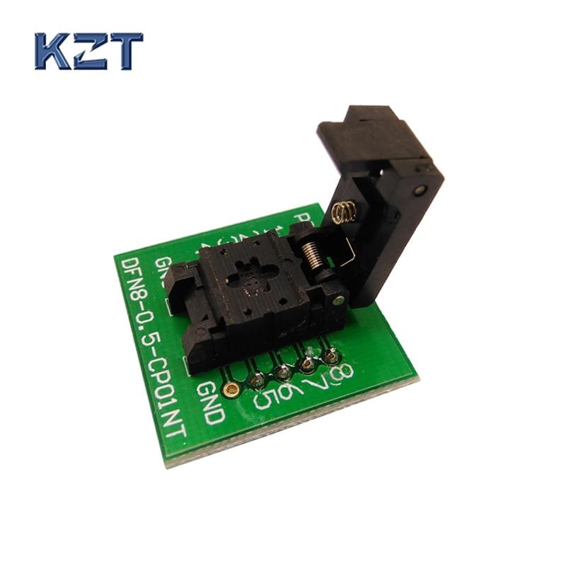 QFN8 DFN8 WSON8 Di Programmazione Presa Di Prova Pogo Pin Sonda Adattatore Pin Passo 0.5mm IC Dimensioni Del Corpo 2x3mm A Conchiglia Presa Di Prova Programmatore