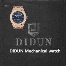 DIDUN Watch Men Top Brand Luxury Automatic Mechanical Rosegold Watch Military Business Male WristWatch Waterproof 30m Watch