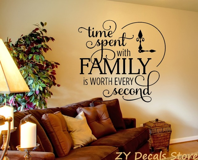 time spent wall decor decals living room inspirational quote vinyl