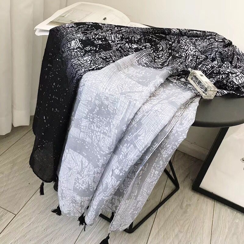 Sjaals voor dames 2019 head scarf summer geometric beach scarf paillette hijab glitter shawl bandana foulard