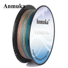 Anmuka 300M 10m 1color Japan Multifilament 100% PE 8 Strands Braided Fishing Line Fish Wire 20 to 80LB Sea Saltwater Fishing