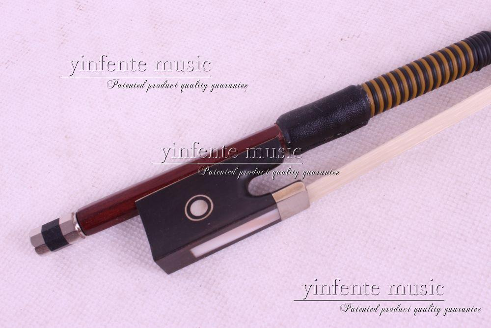 6 pcs 4/4 Violin Bow Ebony Frog Parisian Eyes Brazil wood 87# Round STICK 25 pcs violin tailpiece ebony tail piece 4 4