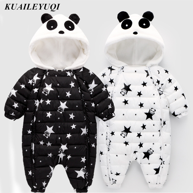 2019 New High Quality Baby Rompers Winter Thick Cotton Boys Costume Girls Warm Clothes Kid Jumpsuit Children Outerwear Baby Wear