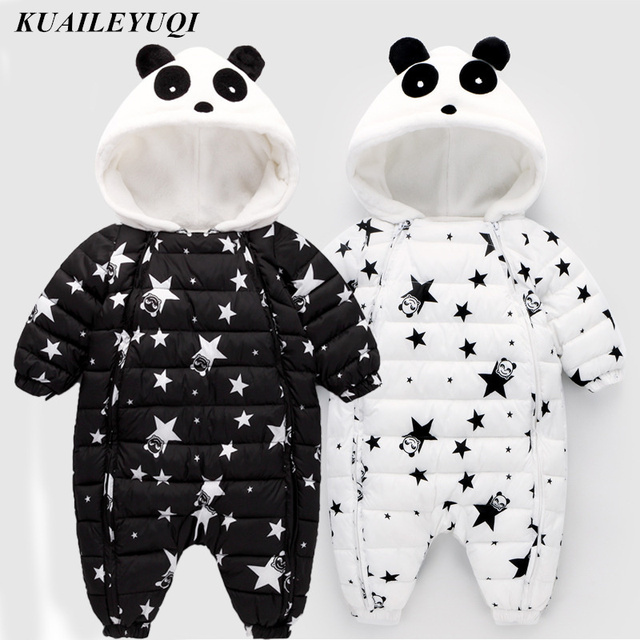 2018 new High Quality Baby Rompers Winter Thick Cotton Boys Costume Girls Warm Clothes Kid Jumpsuit Children Outerwear Baby Wear