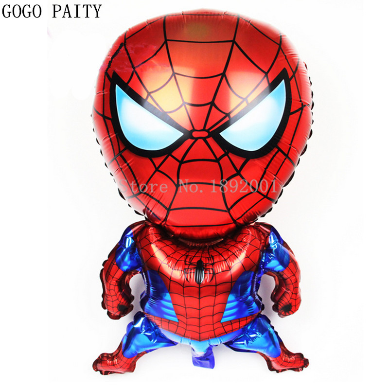 GOGO PAITY Free Shipping The New Aluminum Film Balloon Toys Stereo Spider Man Happy Birthday Party Balloon Decoration Wholesale