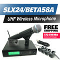 Free Shipping!! Professional UHF Wireless Microphone SLX24/BETA58 SLX Cordless 58A Handheld Karaoke System Band J3 572-596Mhz