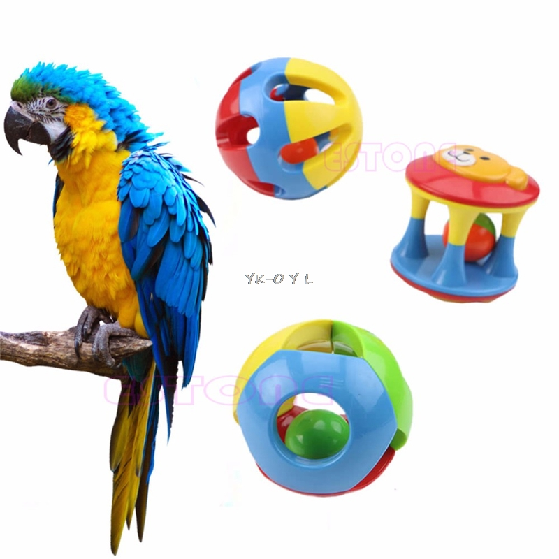 Parrot Chew Pet Bird Bites Swing Cage Hanging Cockatiel Parakeet Chain Ball Toys Swing Cage Hanging Cockatiel Pet Products