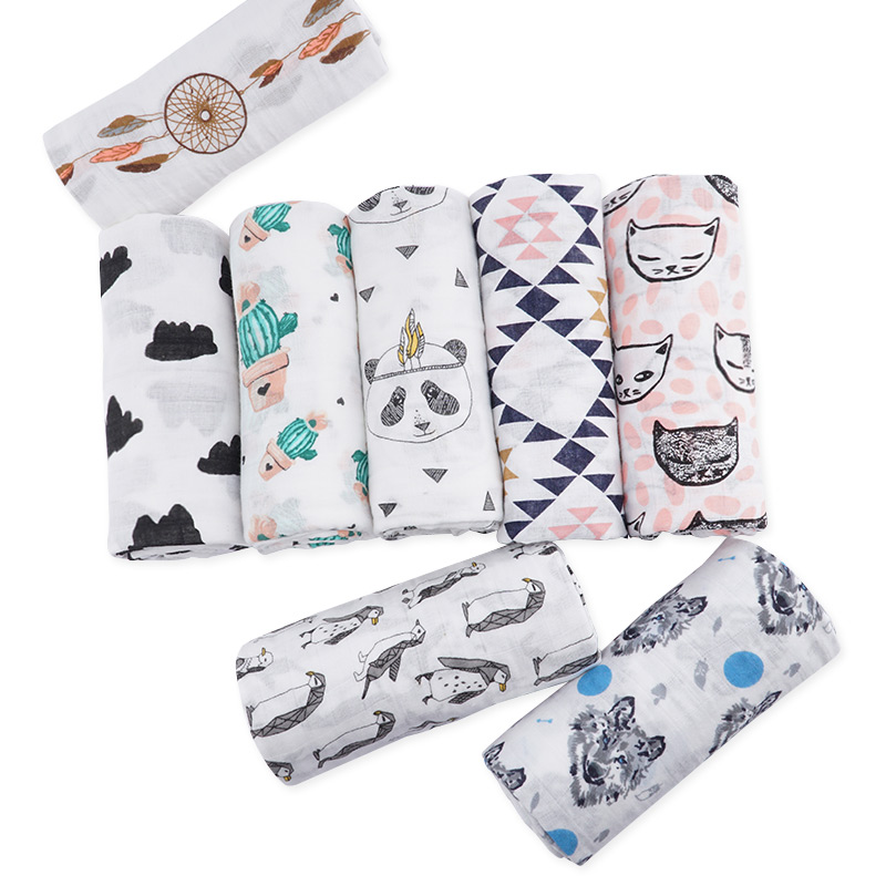Muslinlife Cotton Baby Blankets Newborn,Summer Stroller Blanket For Kids Babies,Breatable Soft Muslin Blanket 120*120cm