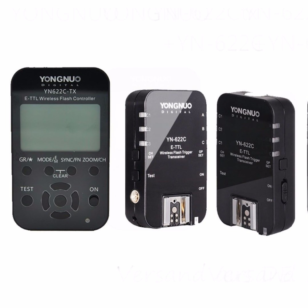 YONGNUO YN622C-II 622C II HSS E-TTL Flash Trigger for Canon Camera Compatible With YN622C YN560-TX RF-603 II RF-605 + YN622C-TX YONGNUO YN622C-II 622C II HSS E-TTL Flash Trigger for Canon Camera Compatible With YN622C YN560-TX RF-603 II RF-605 + YN622C-TX