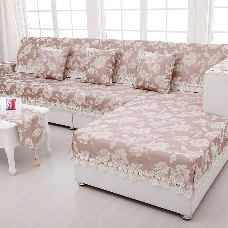 Aliexpress.com : Buy Sofa Towel Jacquard Lace Sofa Cover Armrest Slipcover Chenille  Fabric Couch Covers Set Sectional Seat Covers Cushion Home Decor From ...
