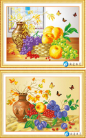 Fruit And Vase 5d Diy Diamond Painting Cross Stitch Round Rhinestone Diamond Mosaic Picture Home Decoration