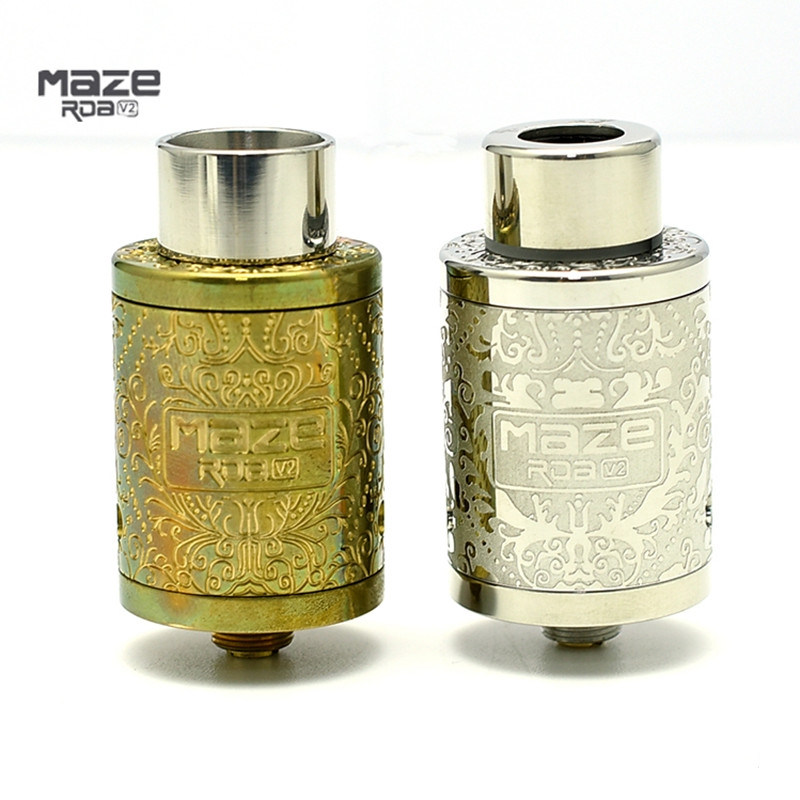 Maze V2 BF RDA Tank Atomizer Kennedy-style Airflow Adjustable Double-deck Rebuildable 22mm diameter Rebuildable Dripping Dripka