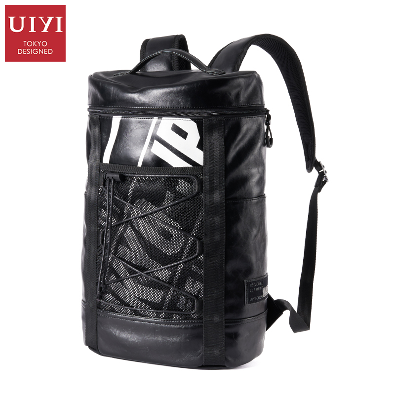 UIYI Male Fashion Backpacks Waterproof Backpack Quality PU Leather Travel Backbag Casual Bag for Men Backpacks bags for Teenager uiyi brand new men backpack black waterproof backpack fashion pu leather travel bag casual school bag for teenagers 2018