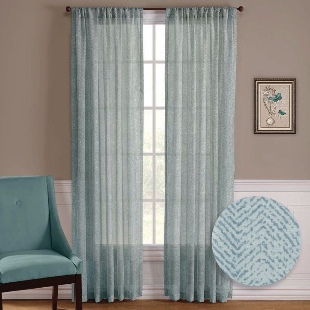 Living Room Window Treatments Aliexpresscom Buy Nicetown One Pair Zig Zag Chevron Pattern
