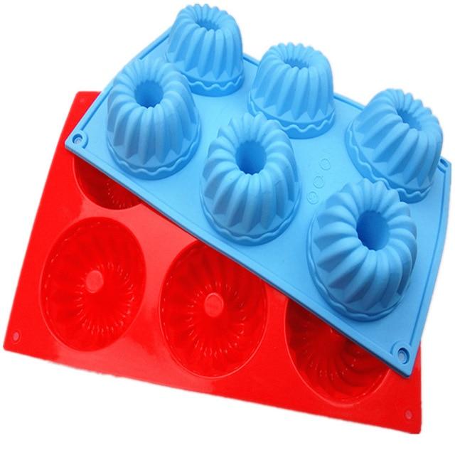 6 grid donuts kuchen silikonformen diy gollum flower cupcake ...