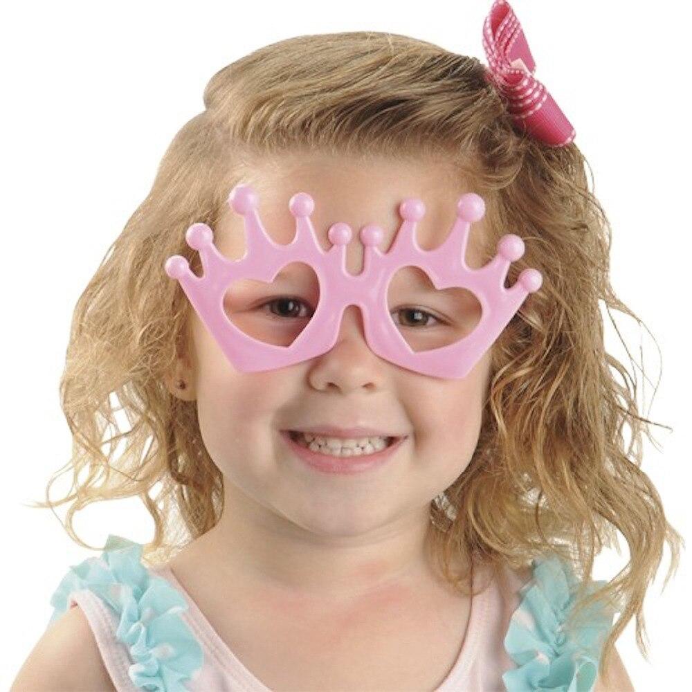 ▽Paquete de 4 Color clasificado princesa tiara corona Gafas niños ...
