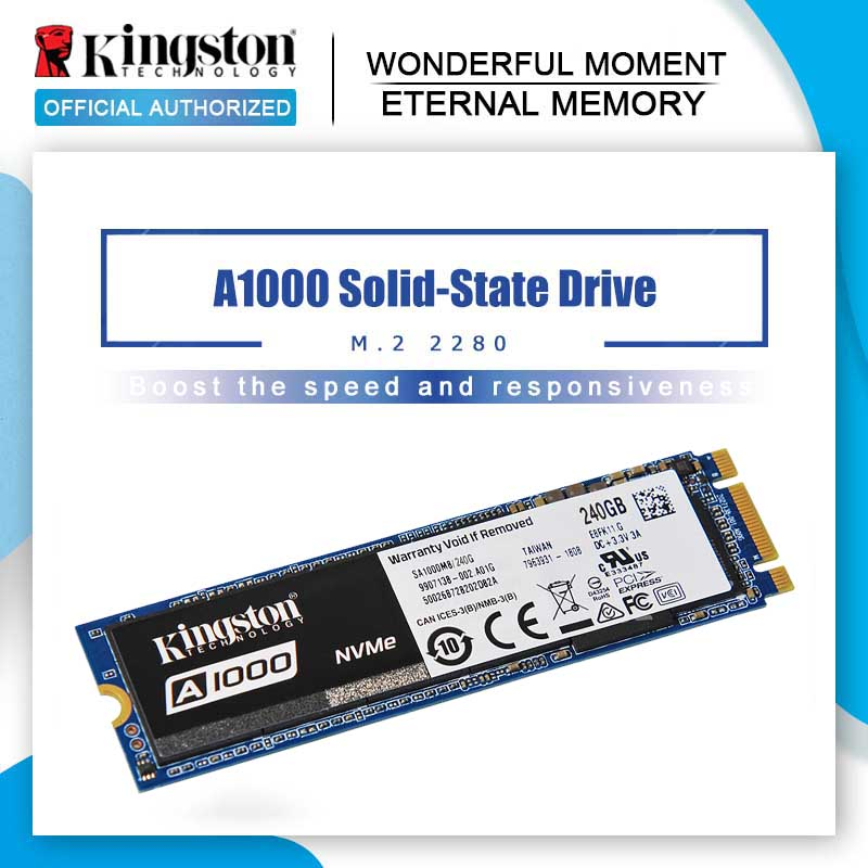 Kingston A1000 Internal Solid State Drive NVMe M 2 2280 SATA SSD 120GB 240GB 480GB 960GB