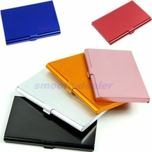 Case Business-Card Metal-Cover Id-Card-Holder Credit Pocket Alloys Universal