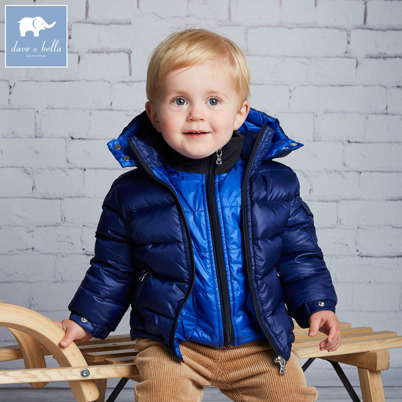 DB3933 dave bella winter infant jacket baby boys 3 color solid down jacket white duck down padded coat hooded outerwear db4088 dave bella baby girls padded clothing hooded padded coat outerwear kids down jacket